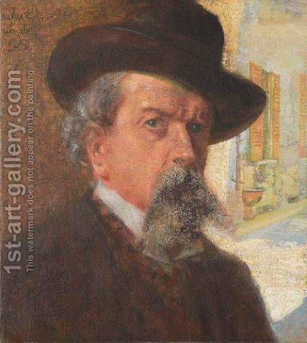 Ritratto Maschile by Giovanni Segantini - Reproduction Oil Painting