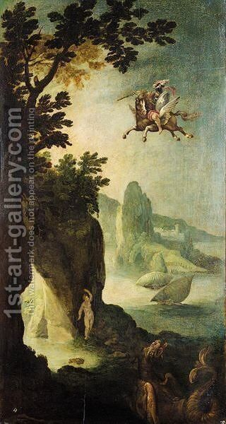 Perseus And Andromeda by (after) Paul Bril - Reproduction Oil Painting
