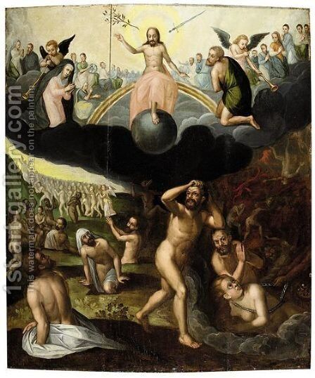 The Last Judgement by (after) Jean Or Johann Sadeler - Reproduction Oil Painting