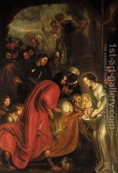 The Adoration Of The Magi 9 by (after) Sir Peter Paul Rubens - Reproduction Oil Painting