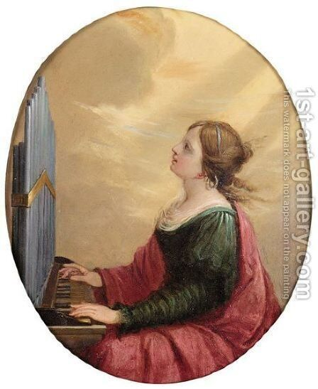 Saint Cecilia by (after) Elisabetta Sirani - Reproduction Oil Painting