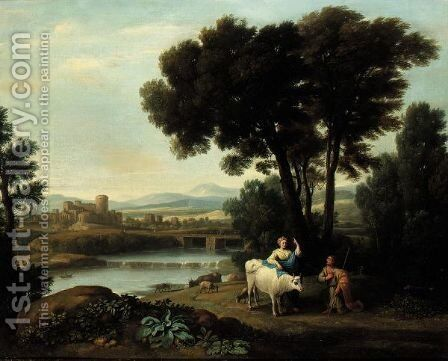 A Landscape With Juno Putting Io Under The Care Of Argus by (after) Claude Lorrain (Claude Gellee) - Reproduction Oil Painting