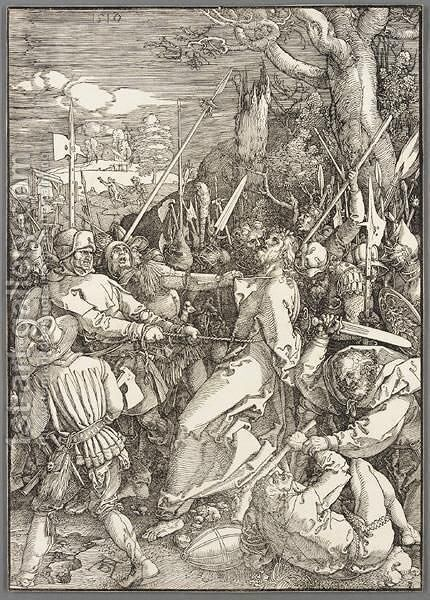 The Kiss Of Judas by Albrecht Durer - Reproduction Oil Painting