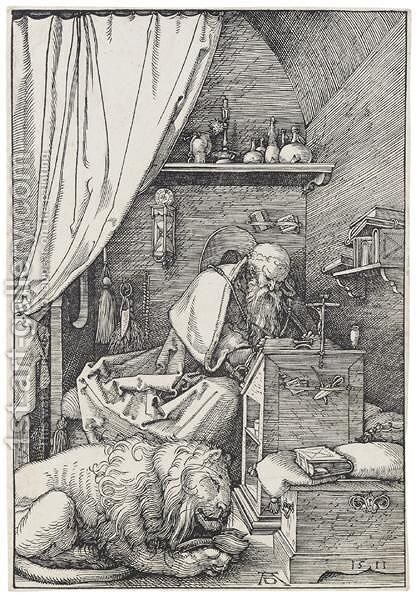 St Jerome In His Cell by Albrecht Durer - Reproduction Oil Painting