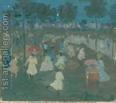 Park Scene by Maurice Brazil Prendergast - Reproduction Oil Painting
