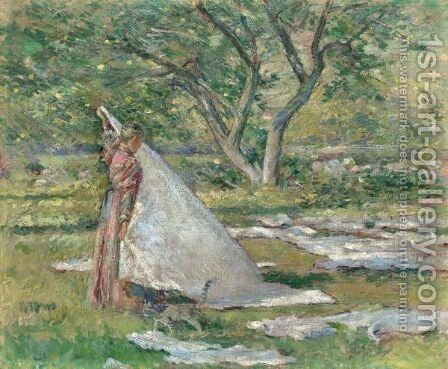 Washing Day by Theodore Robinson - Reproduction Oil Painting