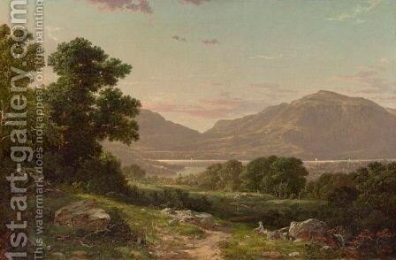 Scene At Cold Spring, Hudson River by David Johnson - Reproduction Oil Painting