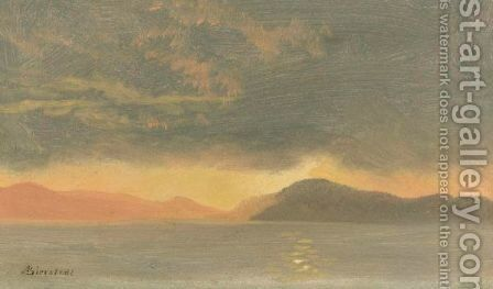 Sunset by Albert Bierstadt - Reproduction Oil Painting
