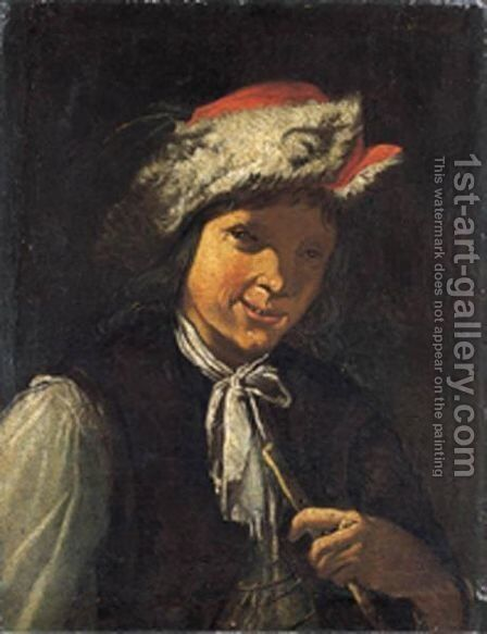 Fumatore Di Pipa by (after) Giacomo Francesco Cipper - Reproduction Oil Painting