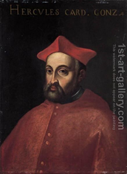 Ritratto Del Cardinale Ercole Gonzaga by Italian School - Reproduction Oil Painting