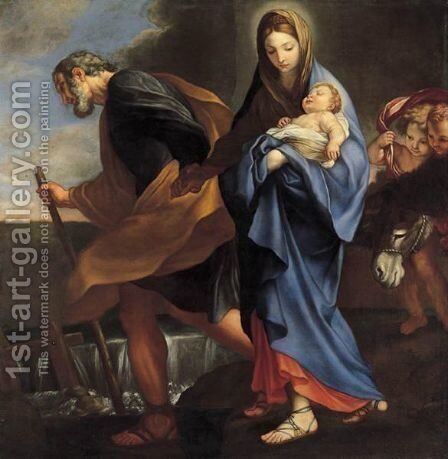 Fuga In Egitto by (after) Carlo Maratta Or Maratti - Reproduction Oil Painting