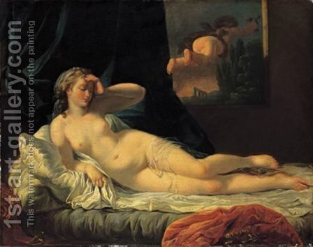 Venere Con Amorino by (after) Jean-Jacques Lagrenee - Reproduction Oil Painting