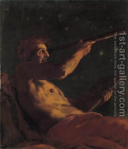 Allegoria Dell'Astronomia by (after) Johann Karl Loth - Reproduction Oil Painting