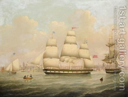 Sailing Off Liverpool by (after) Robert Salmon - Reproduction Oil Painting