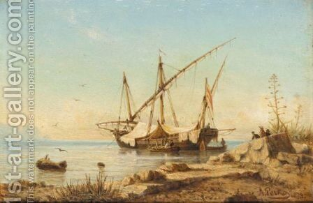 The Secret Harbour by Anton Perko - Reproduction Oil Painting