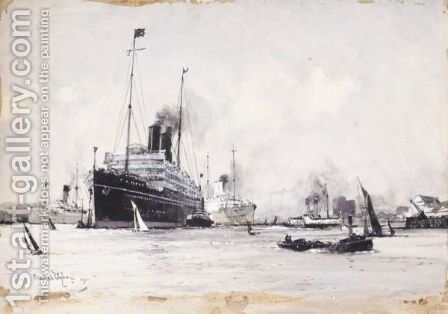 Tilbury Of Today by Charles Edward Dixon - Reproduction Oil Painting