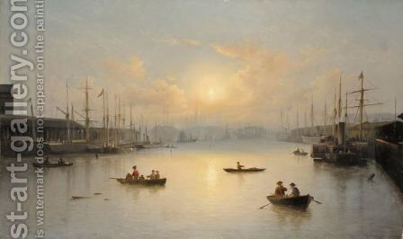 Portsmouth Harbour by David James - Reproduction Oil Painting