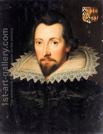 Portrait Of Christopher Cresacre More by (after) Daniel Mytens - Reproduction Oil Painting