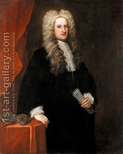 Portrait Of John Willes, Chief Justice Of Chester by Charles Jervas - Reproduction Oil Painting
