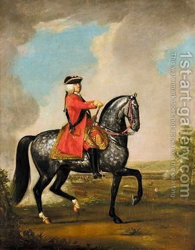 Equestrian Portrait Of King George II (1727-1760) by David Morier - Reproduction Oil Painting
