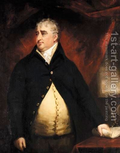 Portrait Of The Hon. Charles James Fox, M.P. by (after) John Opie - Reproduction Oil Painting
