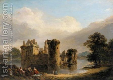 A Family Picnic In Front Of Loch Leven Castle, Kinross by Alexander Nasmyth - Reproduction Oil Painting
