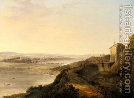 View Of Falmouth From Pendennis Castle, Cornwall by James George Philp - Reproduction Oil Painting