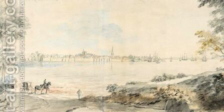 View Of Southampton by Coplestone Warre Bampfylde - Reproduction Oil Painting