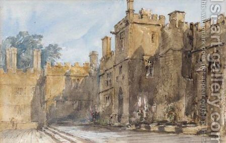 The Courtyard, Haddon Hall by David Cox - Reproduction Oil Painting