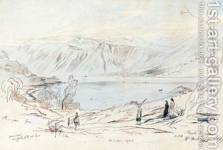 Bocche Di Cattaro, Montenegro by Edward Lear - Reproduction Oil Painting