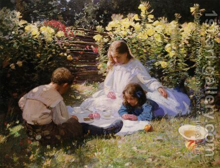 The Garden Party by Harry Watson - Reproduction Oil Painting