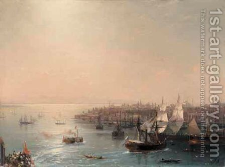 Arrival Of The Russian Ship In Constantinople by Ivan Konstantinovich Aivazovsky - Reproduction Oil Painting