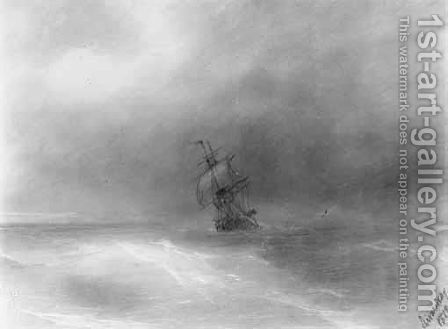 Boat At Sea by Ivan Konstantinovich Aivazovsky - Reproduction Oil Painting