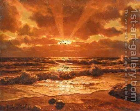 Sunrise by Ivan Fedorovich Choultse - Reproduction Oil Painting