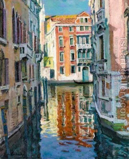 View Of Venice by Arnold Borisovich Lakhovsky - Reproduction Oil Painting