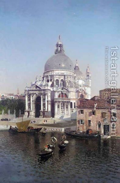 Santa Maria Della Salute, Venice by Martin Rico y Ortega - Reproduction Oil Painting
