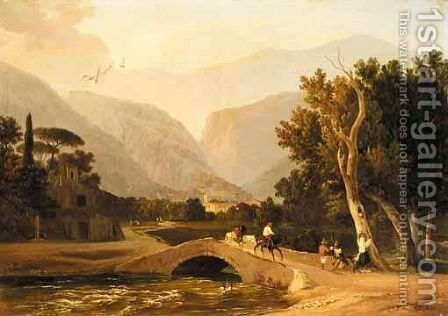 Piedimonte D'Alife by Carl Wilhelm Gotzloff - Reproduction Oil Painting
