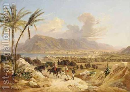 Palermo Di Belmonte by Carl Wilhelm Gotzloff - Reproduction Oil Painting