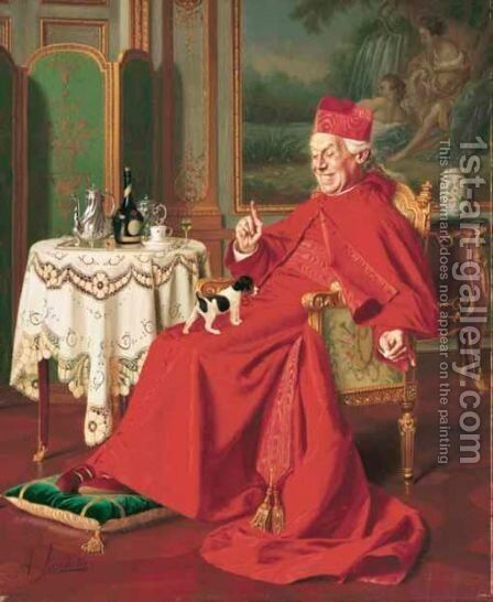 His Favourite Pet by Andrea Landini - Reproduction Oil Painting