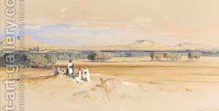 A Distant View Of Athens by Edward Lear - Reproduction Oil Painting