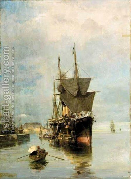 The Disembarkation by Constantinos Volanakis - Reproduction Oil Painting