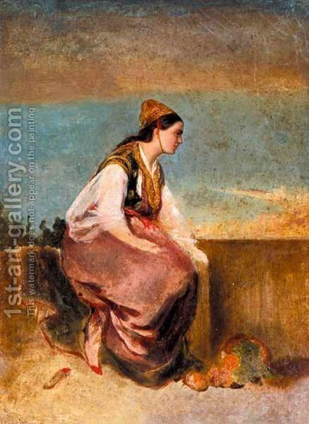 Contemplation by Continental School - Reproduction Oil Painting