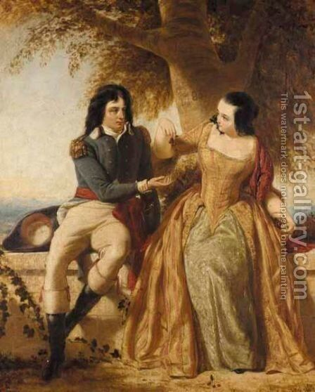 Count And Countess Rapp by Charles Lucy - Reproduction Oil Painting