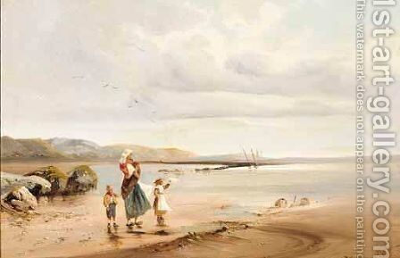On The Coast Of Normandy by (after) Theodore Rousseau - Reproduction Oil Painting