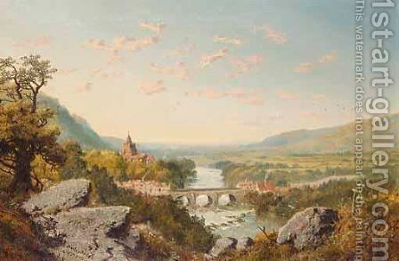 Darley Bridge On The Derwent by Edward H. Niemann - Reproduction Oil Painting