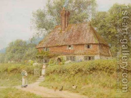 An Old Surrey Cottage 2 by Helen Mary Elizabeth Allingham, R.W.S. - Reproduction Oil Painting