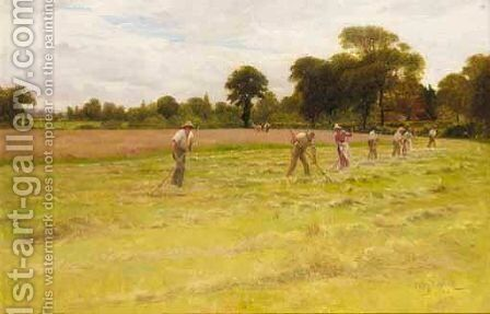 Harvesting by James Hey Davies - Reproduction Oil Painting