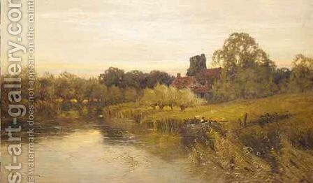 A River Mooring by Harry Pennell - Reproduction Oil Painting