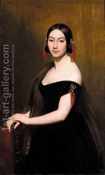 Portrait Of A Lady by Ary Scheffer - Reproduction Oil Painting