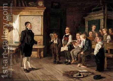 The Singing Lesson by Carl Bernhard Schloesser - Reproduction Oil Painting
